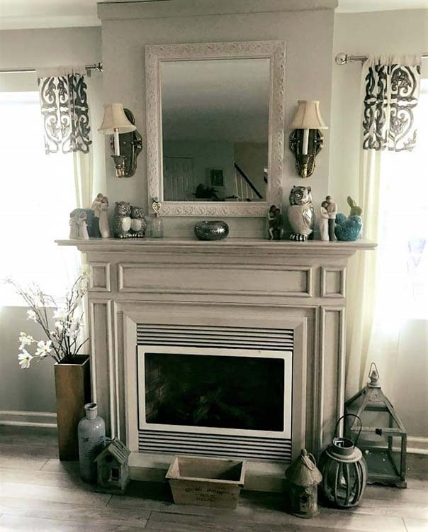 Fireplace with custom paint