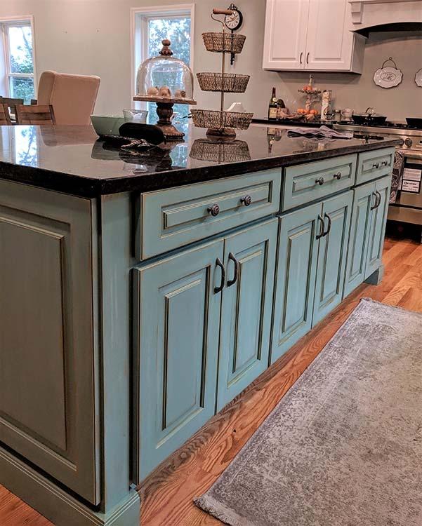 custom painted kitchen island