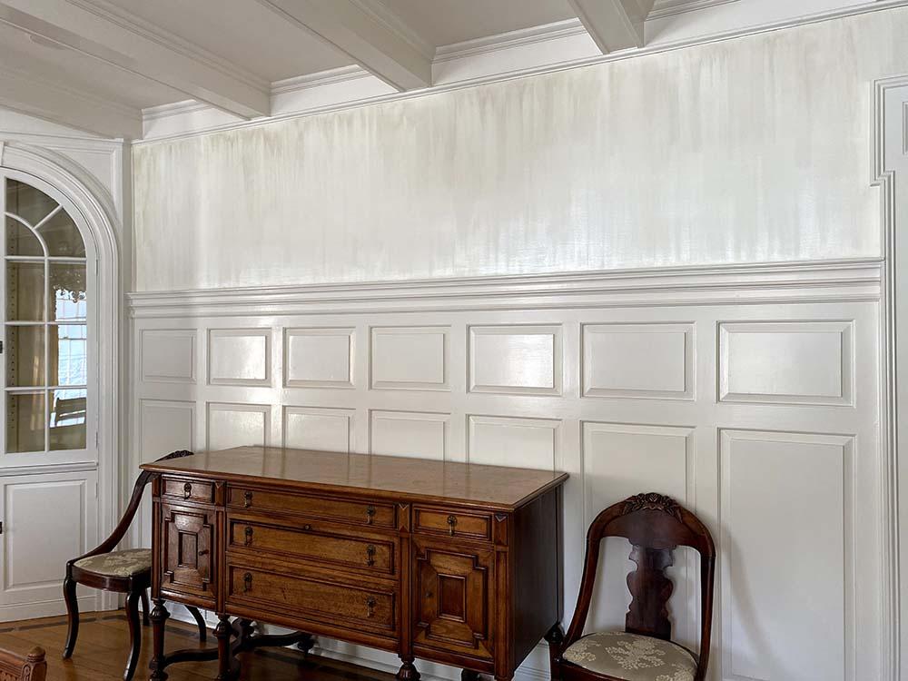 Shimmer Rain paint on dining room wall