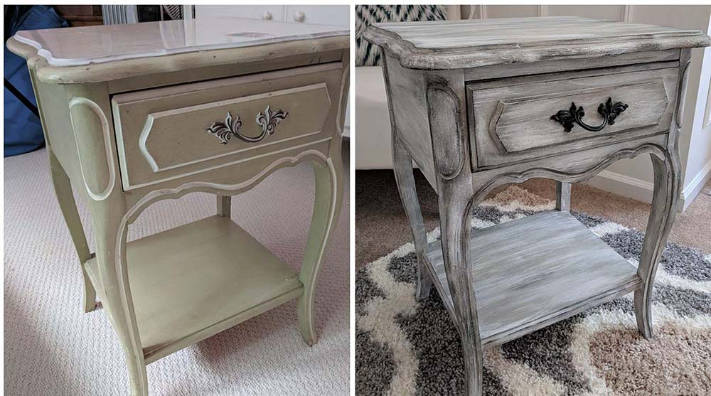 custom painted nightstand