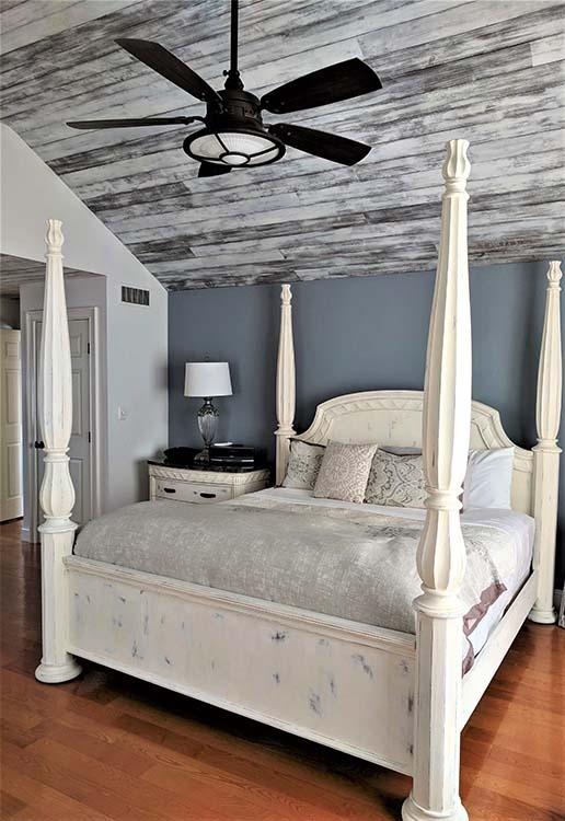 custom painted bedroom ceiling