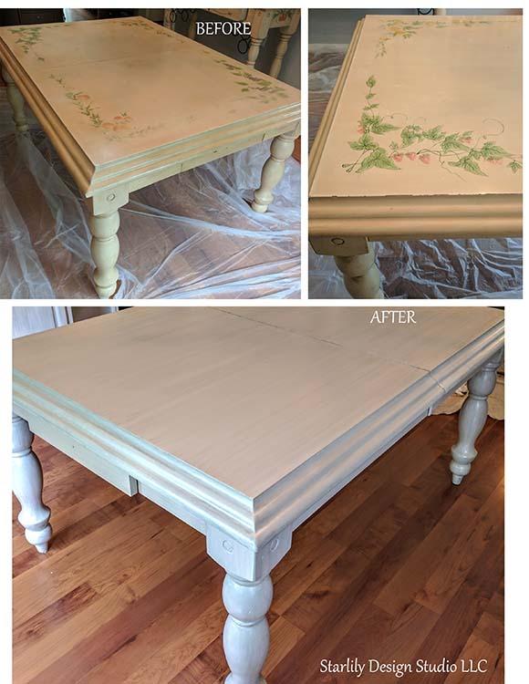 custom painted coffee table