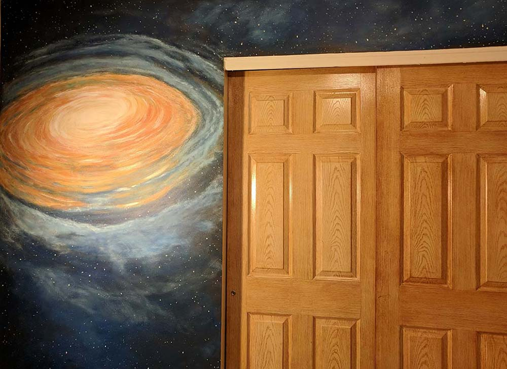 Milky wall mural on wall